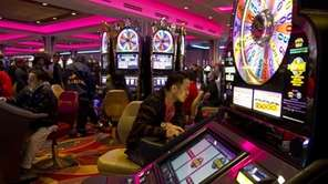 A gambler tries his luck at the gleaming