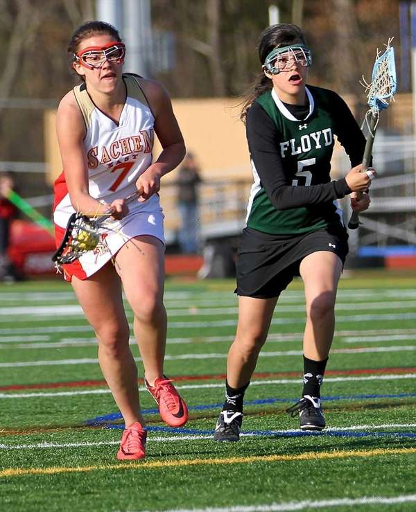 Sachem East's Jackie Wasilko #7 moves the ball