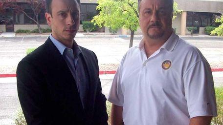 Tony Antolino, left, and and Paul Babakitis, right,