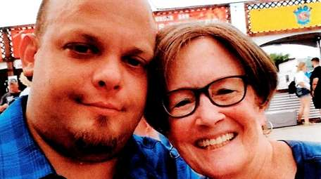 Joshua Glasner and his mother, Pat Collins of