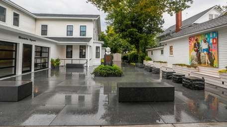 Einstein Square in Southold is dedicated to Albert