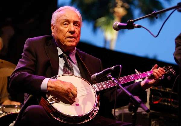 Musician Earl Scruggs performs onstage in Indio, Calif.