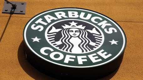 The Starbucks Coffee logo in Mountain View, Calif.