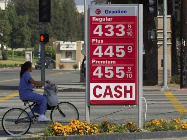 High gas prices in Northridge, Calif. (March 15,