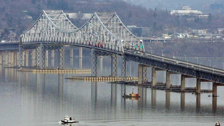 The Tappan Zee Bridge seen from Nyack. (Feb.