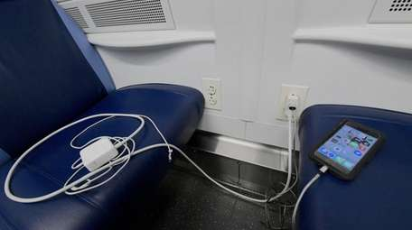The new outlets at each seat were popular