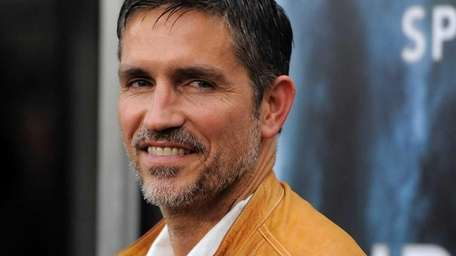 Actor Jim Caviezel poses at the premiere of