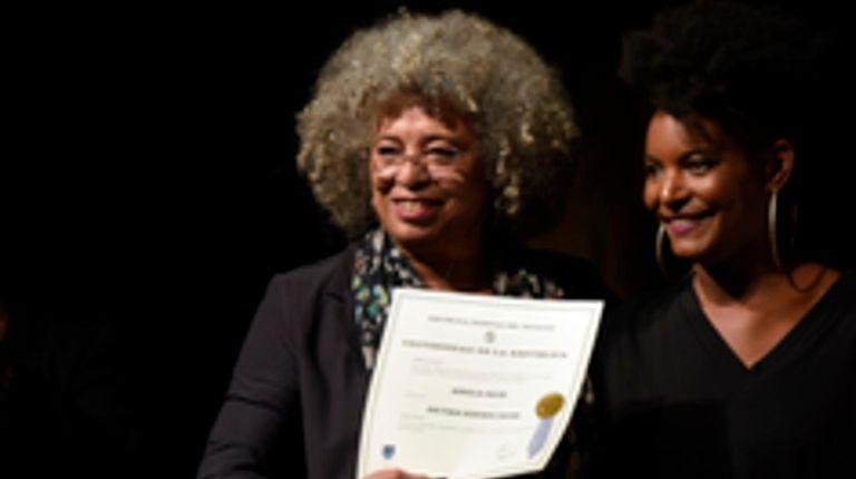 Angela Davis, left, is among 10 people who