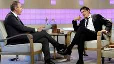 quot;Todayquot; show co-host Matt Lauer talks with actor