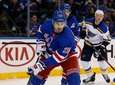 Chris Kreider #20 of the Rangers skates during