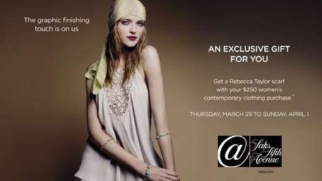 Fashion presentation and free makeovers at Saks Fifth