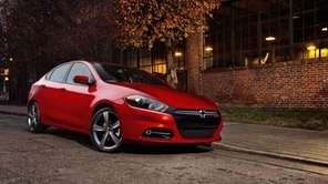 The 2013 Dodge Dart is pictured in this