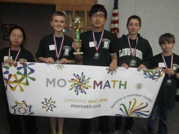 Longwood Junior High's winning team in the Suffolk