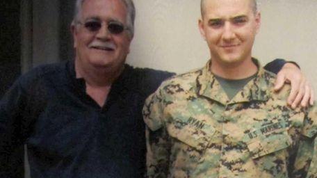 Bart Ryan with his father, Thomas Ryan, who