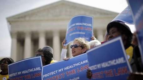 Supporters of federal health care reform rally in