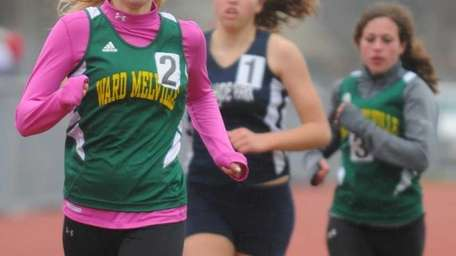 Ward Melville High School junior Meaghan Sugrue stays