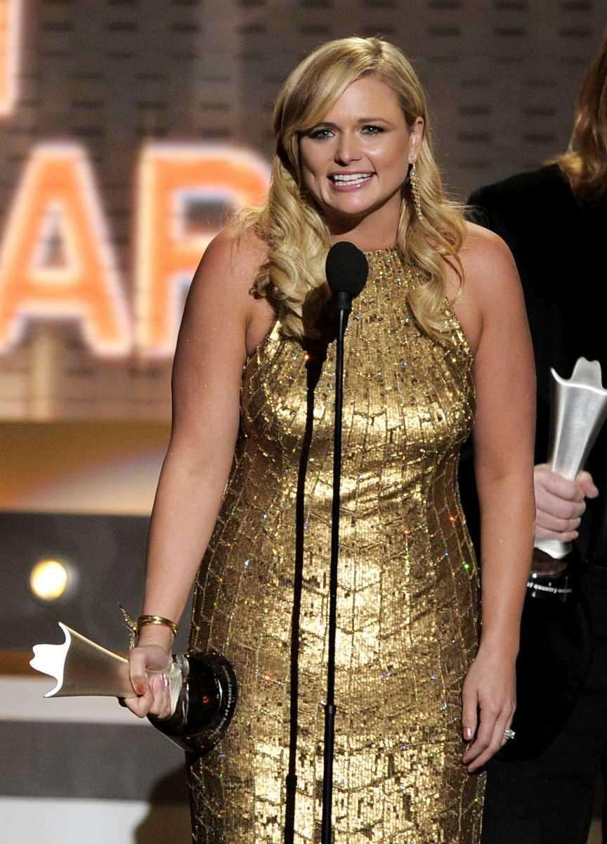 Miranda Lambert accepts the award for album of