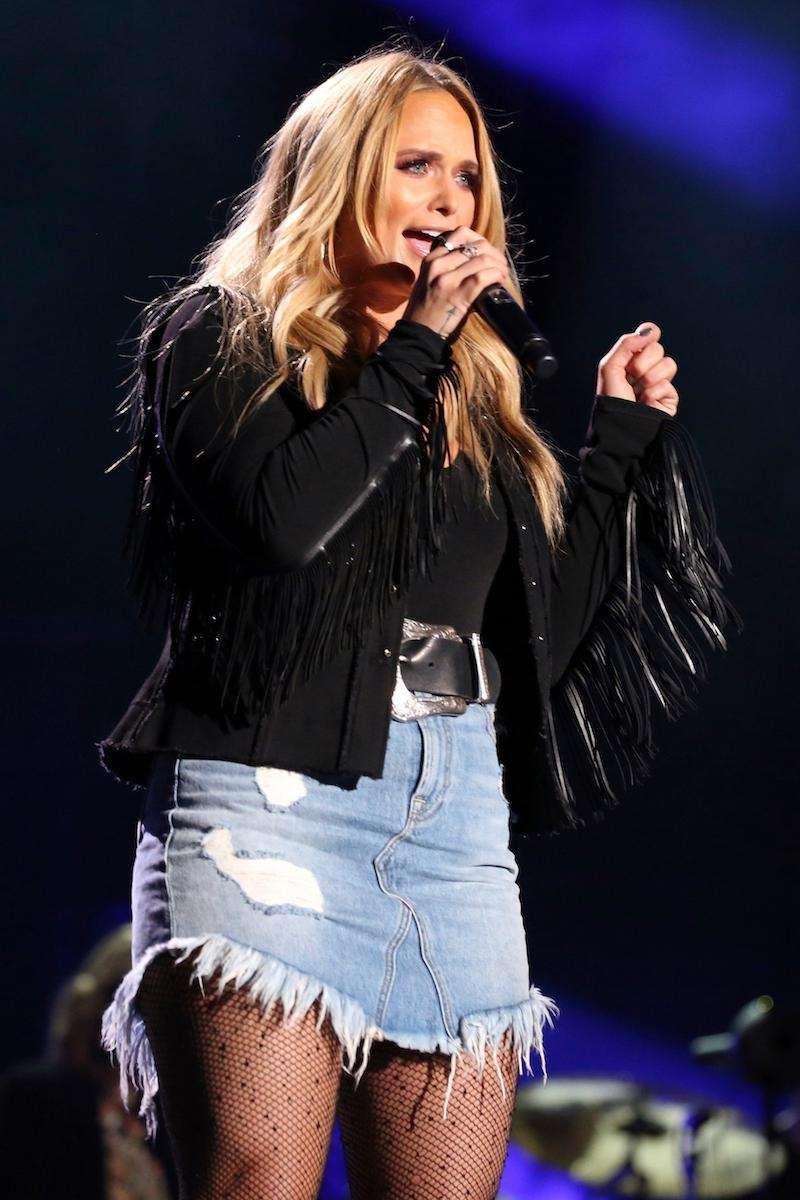 Miranda Lambert poses backstage at the 47th Annual