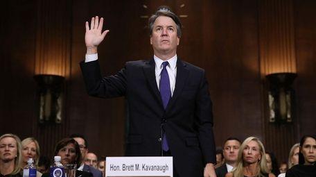 Then-Supreme Court nominee Brett Kavanaugh at his Senate