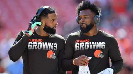 Browns receivers Odell Beckham Jr. and Jarvis Landry
