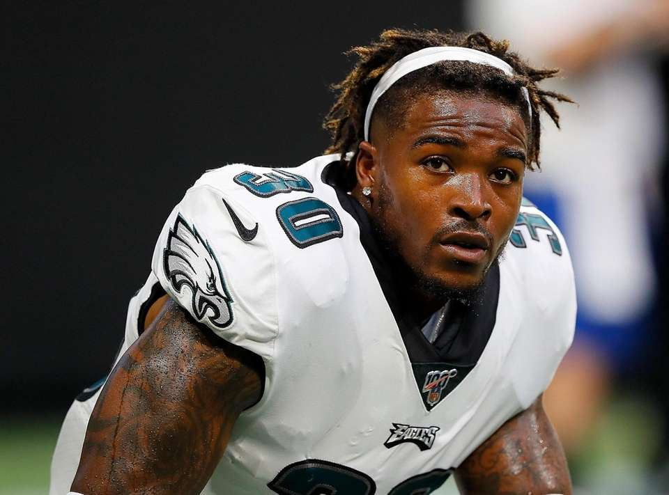 Running back Corey Clement of the Philadelphia Eagles