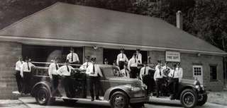 The Wading River fire department staff poses on