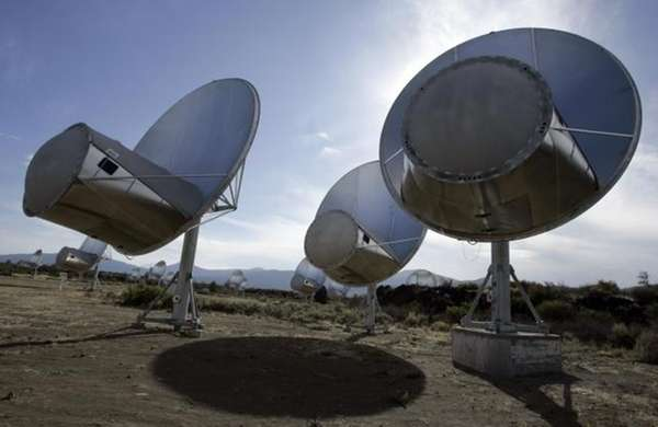 Radio telescopes in Hat Creek, Calif. at the