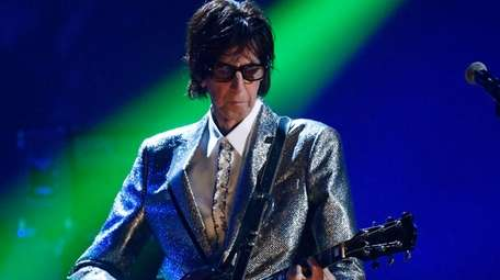Ric Ocasek of The Cars performs during the