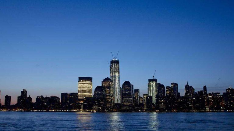 The new World Trade Center in lower Manhattan