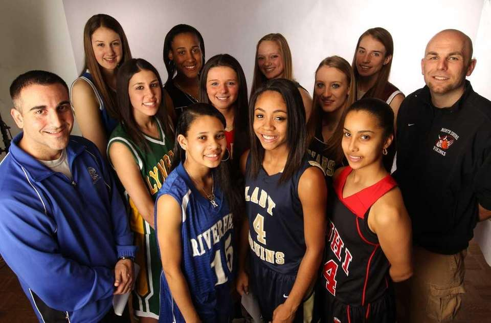 2012 All-Long Island girls basketball team. Front row:
