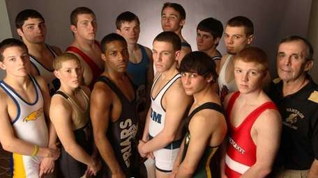 Newsday's 2011-12 All-Long Island wrestling team Front row,