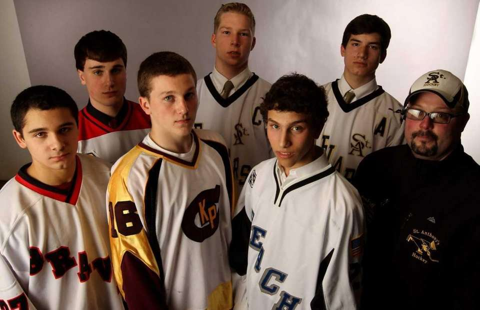 2012 All-Long Island ice hockey team. Front row: