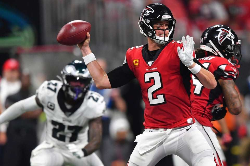 Atlanta Falcons quarterback Matt Ryan throws in the