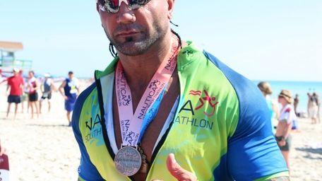 Former WWE Champion Batista spent his Wrestlemania Sunday
