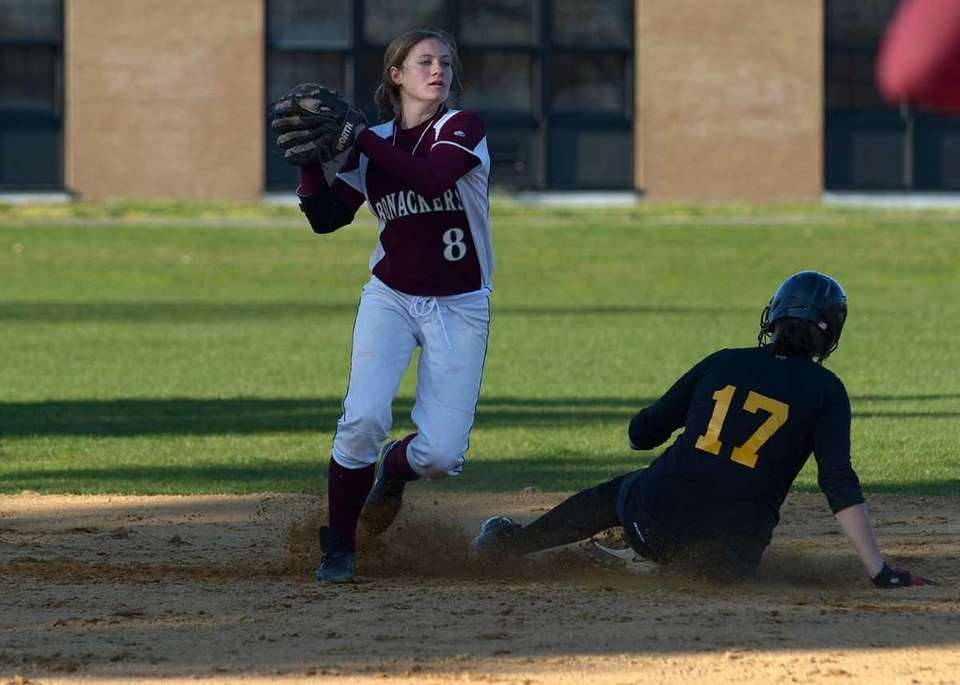 East Hampton's Ali Harned gets the force out