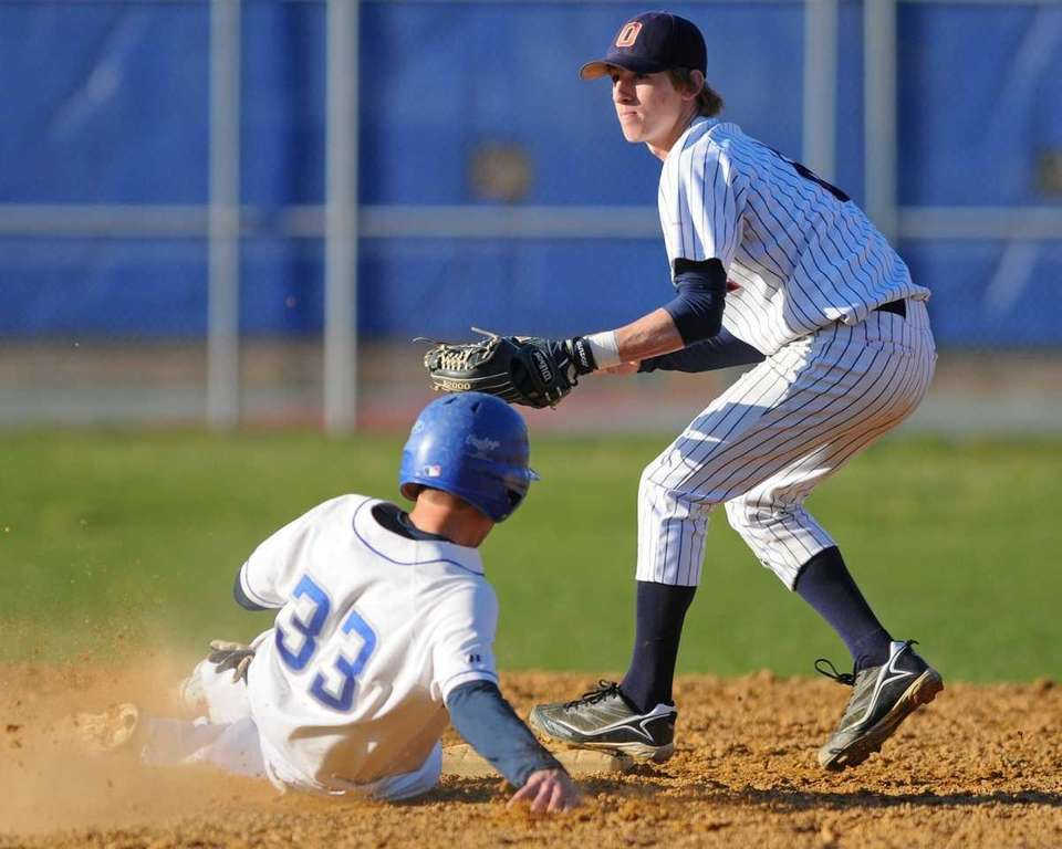 Oceanside High School 2B #6 Connor Pasetti, right,