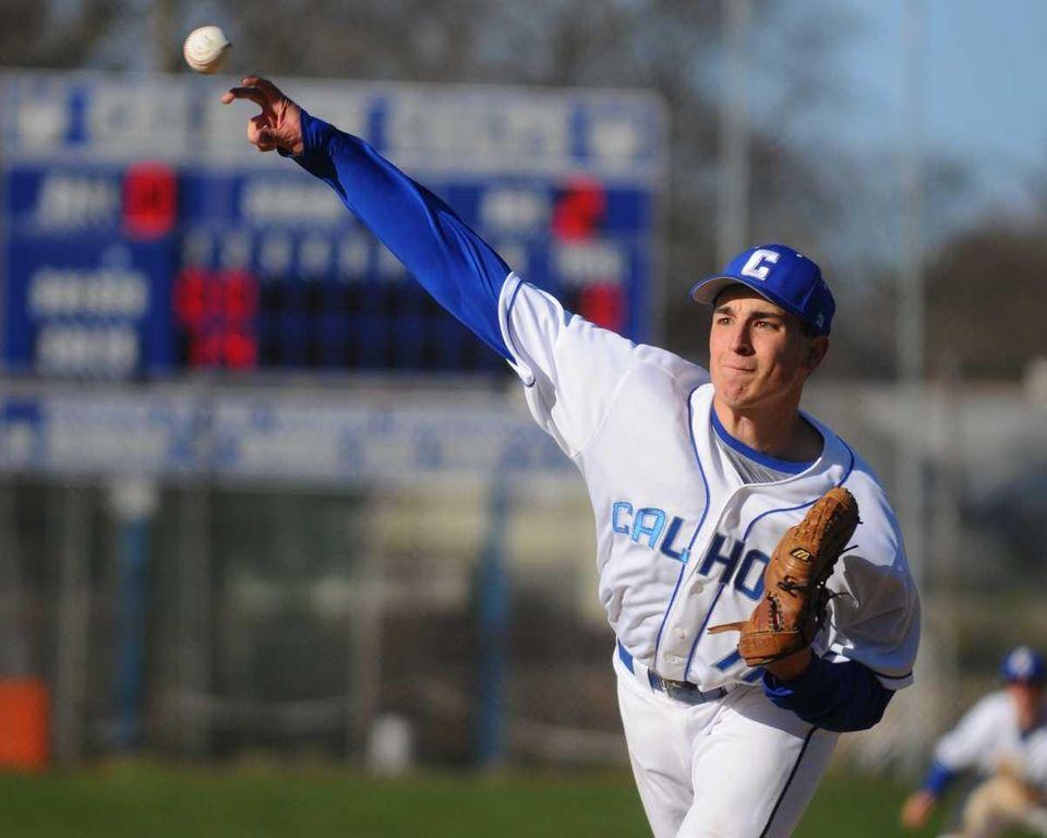 Calhoun High School starting pitcher #11 Kevin Hiss
