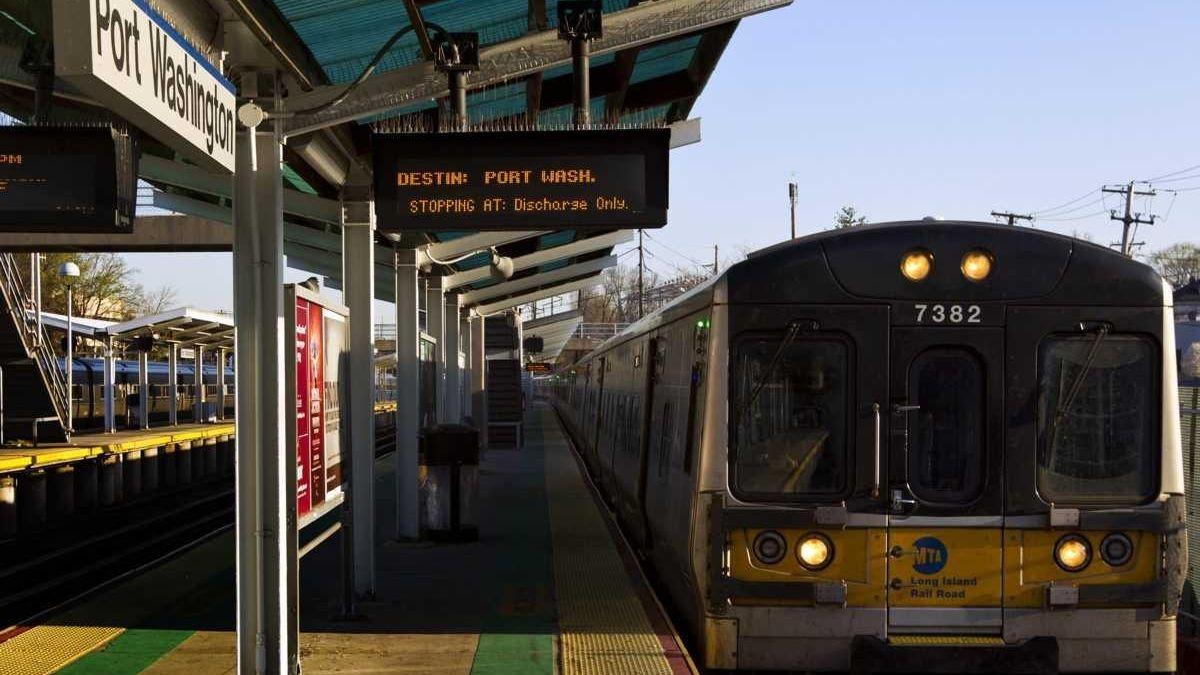 Port Washington Long Island Rail Road MTA station.