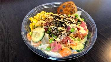 The Hawaiian bowl at Poke One in East