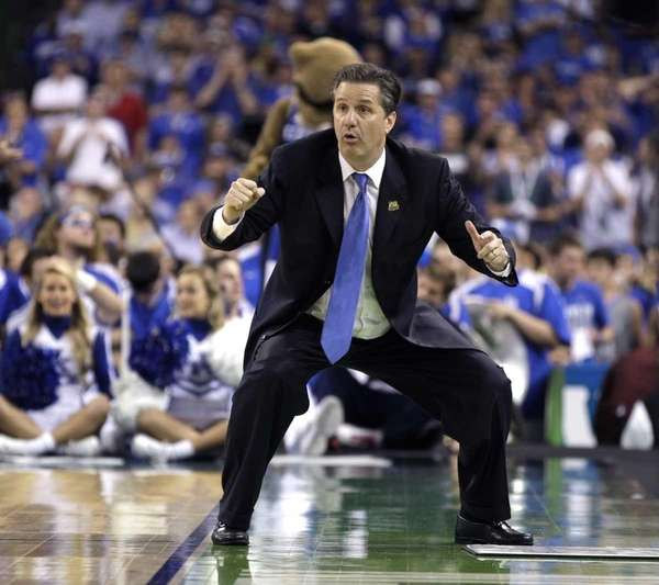 Kentucky head coach John Calipari reacts during the