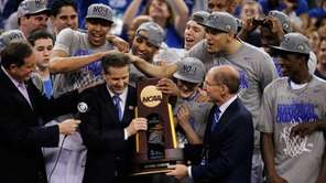 Head coach John Calipari and Kentucky President Eli