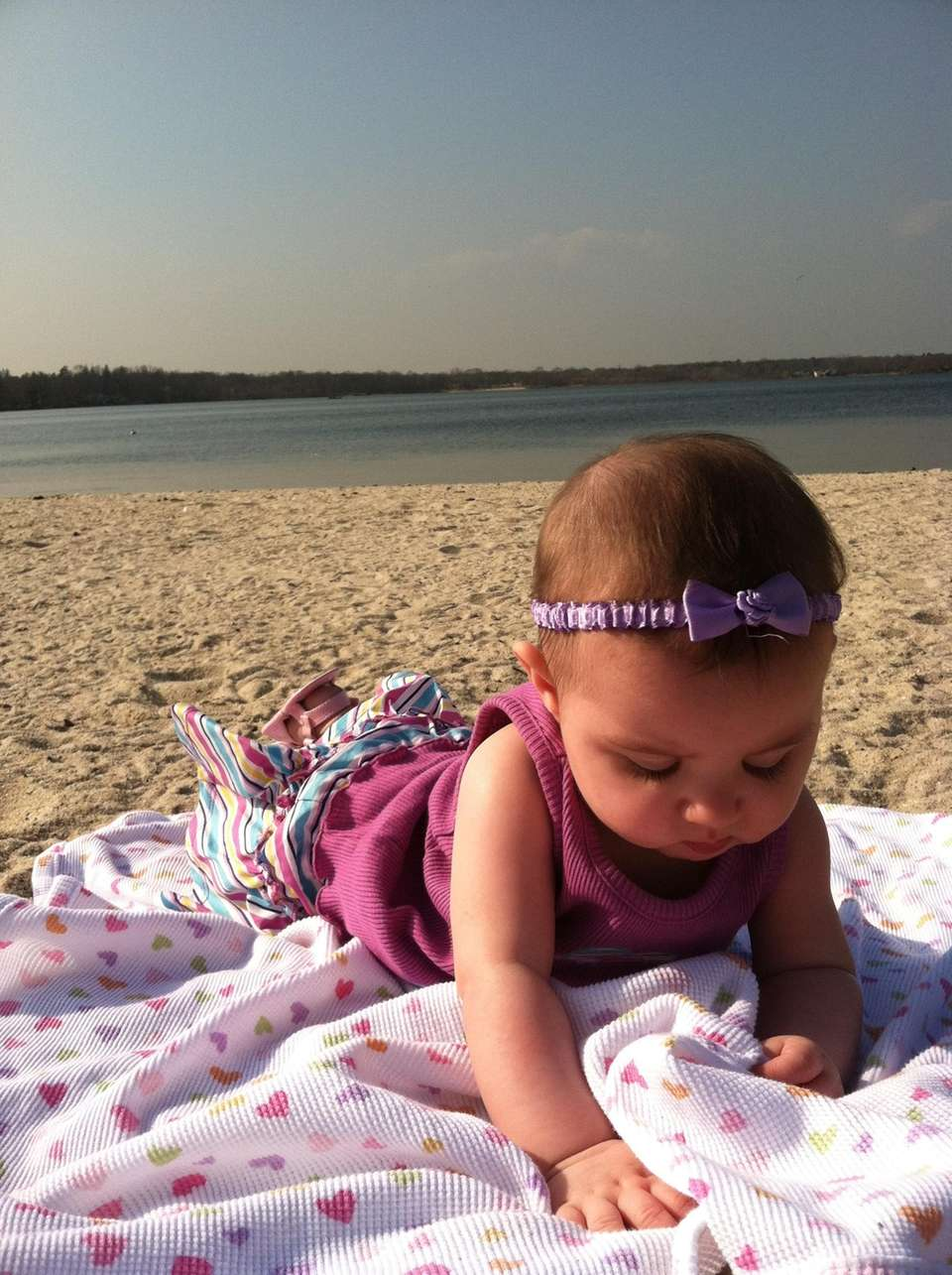 Natalie Rose (6 mths) in Montauk for her