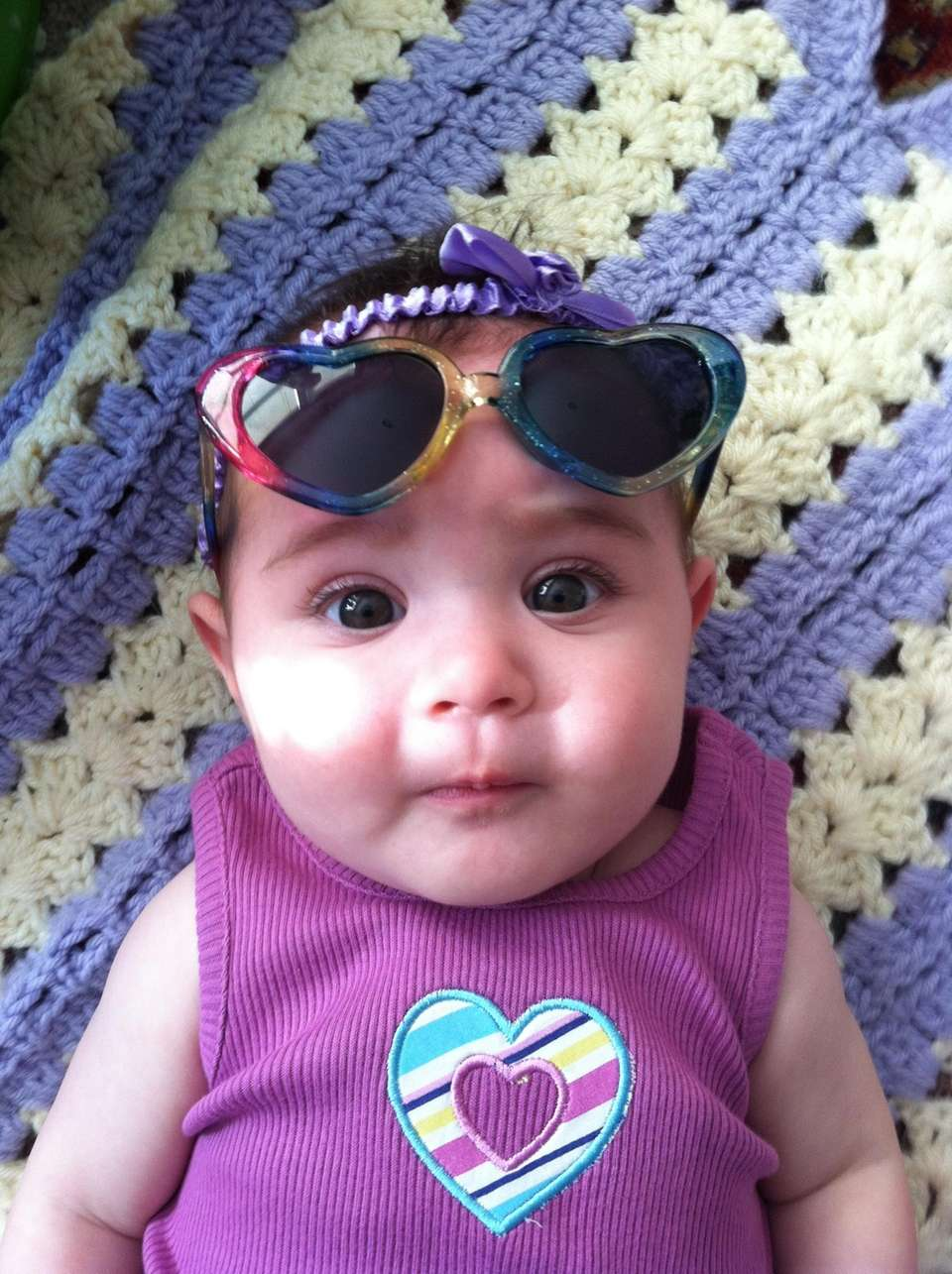 Natalie Rose with her first pair of shades
