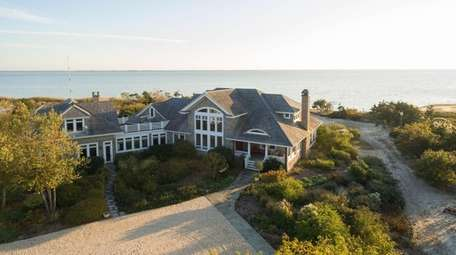 This waterfront mansion in Patchogue is being auctioned