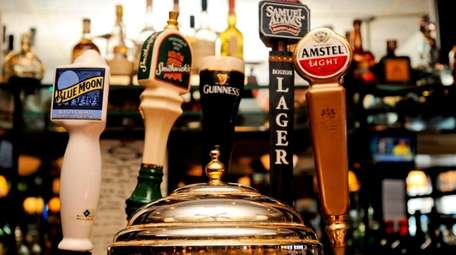 Domestic and Irish beers are on tap at