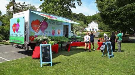 The mobile farm stand from HeartBeet Farms, of