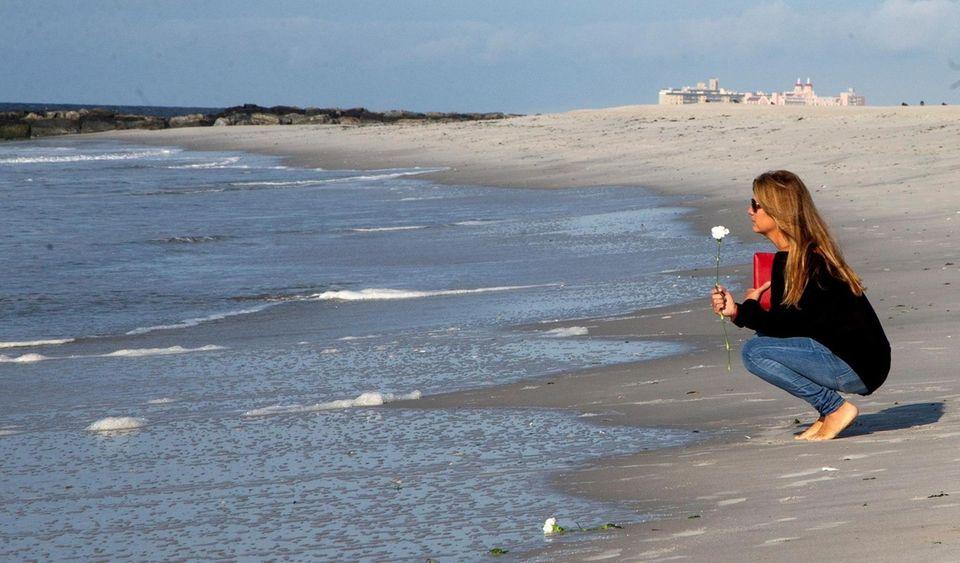Lauren Volz-Zuvich of Long Beach, at the shoreline