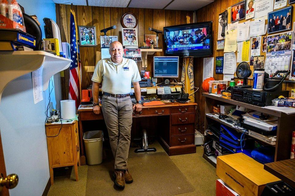 Jeff Kruska in his office at Hempstead Town