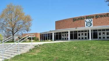 Seaford High School on Seamans Neck Road, seen