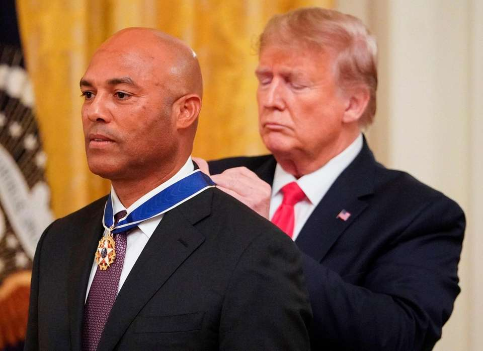 President Donald Trump presents the Medal of Freedom
